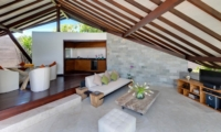 Living and Dining Area with TV - The Layar - Seminyak, Bali