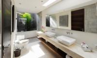 His and Hers Bathroom - The Layar - Seminyak, Bali