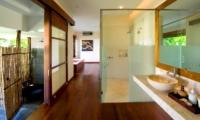 Bathroom with Wooden Floor - The Longhouse - Jimbaran, Bali