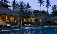 Gardens and Pool at Night - The Lotus Residence - Tabanan, Bali