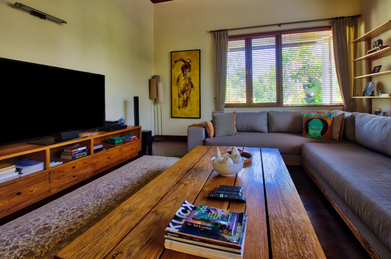 Lounge Area with TV - The Malabar House - Ubud, Bali