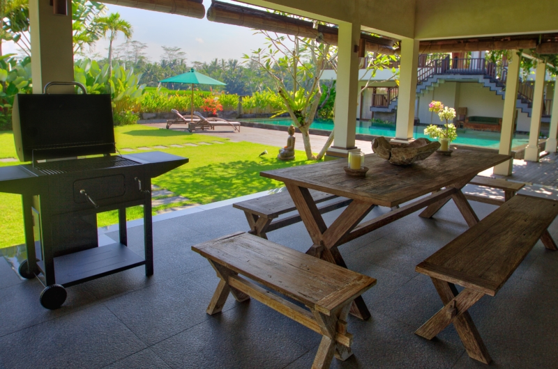 Dining Area with Pool View - The Malabar House - Ubud, Bali
