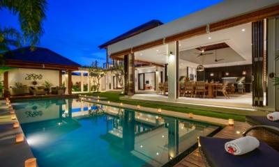 Pool at Night - The Maya Villa - Canggu, Bali