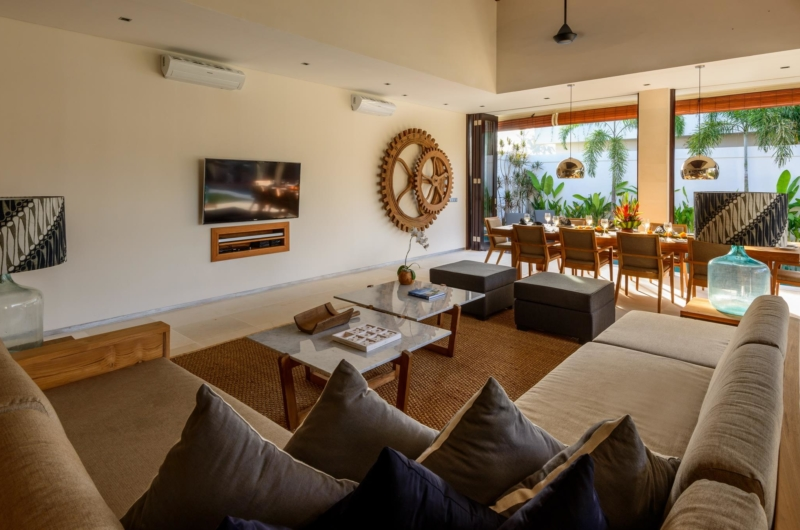 Living Area with TV - The Maya Villa - Canggu, Bali