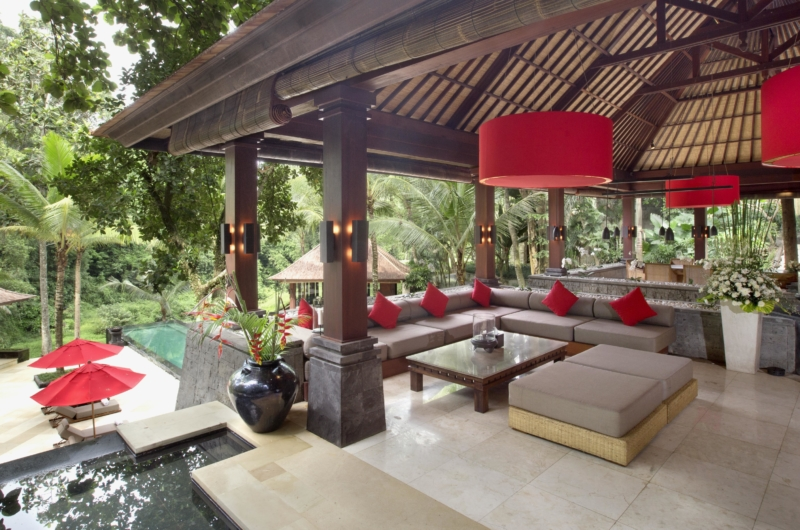 Living Area with Pool View - The Sanctuary Bali - Canggu, Bali