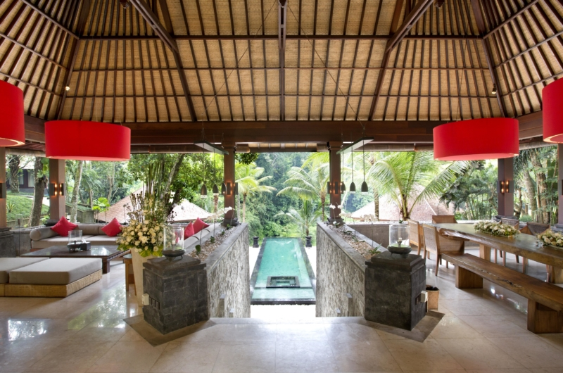 Living and Dining Area with Pool View - The Sanctuary Bali - Canggu, Bali