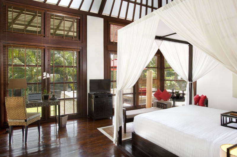 Bedroom with Study Table and TV - The Sanctuary Bali - Canggu, Bali