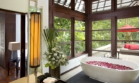 Bathtub with Rose Petals - The Sanctuary Bali - Canggu, Bali