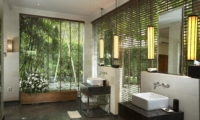 His and Hers Bathroom with Mirrors - The Sanctuary Bali - Canggu, Bali