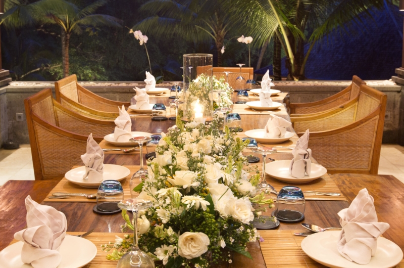 Dining Table with Crockery - The Sanctuary Bali - Canggu, Bali