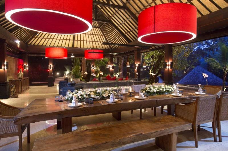 Dining Table with View at Night - The Sanctuary Bali - Canggu, Bali