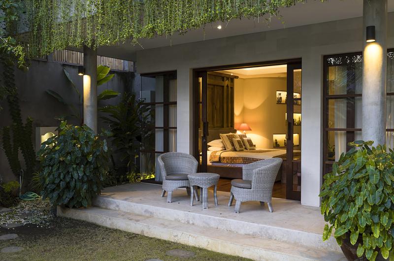 Bedroom and Balcony - The Baganding Villa Bali - Seminyak, Bali