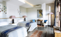 Twin Bedroom with TV - The Baganding Villa Bali - Seminyak, Bali
