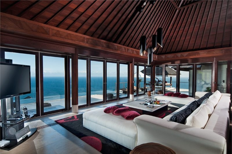 Living Area with TV - The Edge - Uluwatu, Bali