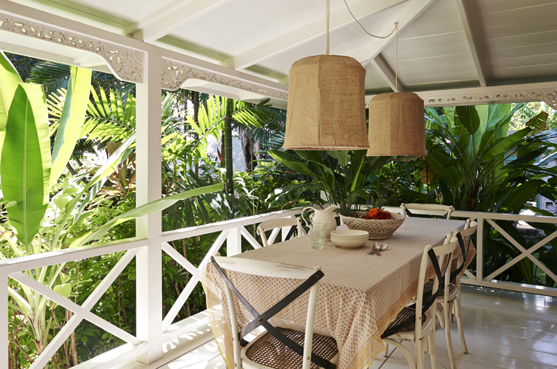 Outdoor Dining Area - The Island Houses - White House - Seminyak, Bali