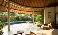 Living Area with Pool View - The Kunja - Seminyak, Bali