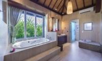 His and Hers Bathroom with Bathtub - The Luxe Bali - Uluwatu, Bali