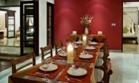 Dining Area with Crockery - The Residence - Seminyak, Bali