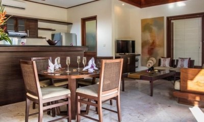 Living and Dining Area with TV - The Residence - Seminyak, Bali