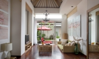 Living Area with TV - The Seiryu Villas - Seminyak, Bali