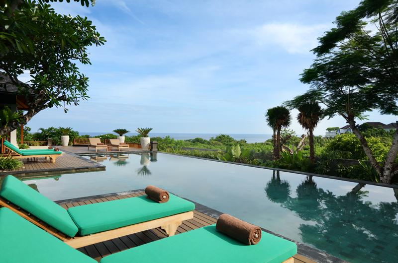 Reclining Sun Loungers - The Shanti Residence - Nusa Dua, Bali