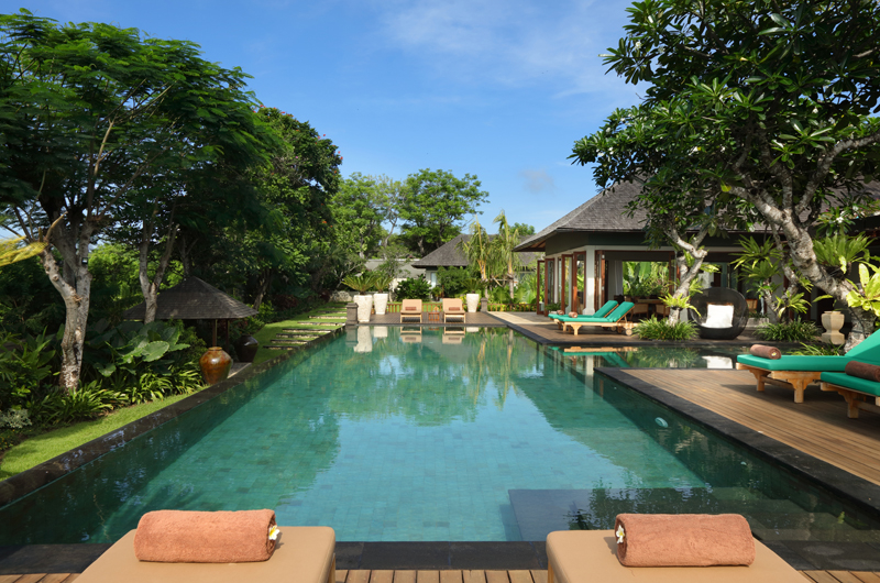 Pool Side Loungers - The Shanti Residence - Nusa Dua, Bali