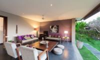 Lounge Area with Garden View - The Uma Villa - Canggu, Bali