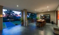 Dining Area with Garden View - The Uma Villa - Canggu, Bali