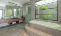 His and Hers Bathroom - The Wolas Villas - Seminyak, Bali