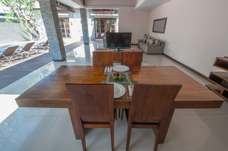 Dining Area with TV - The Wolas Villas - Seminyak, Bali