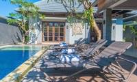 Reclining Sun Loungers - The Wolas Villas - Seminyak, Bali