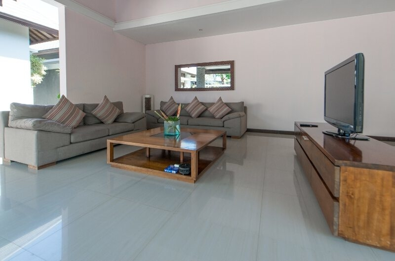 Living Area with TV - The Wolas Villas - Seminyak, Bali