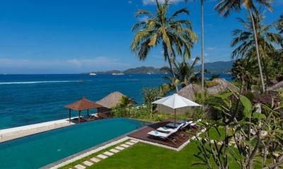 Swimming Pool with Sea View - Tirta Nila - Candidasa, Bali