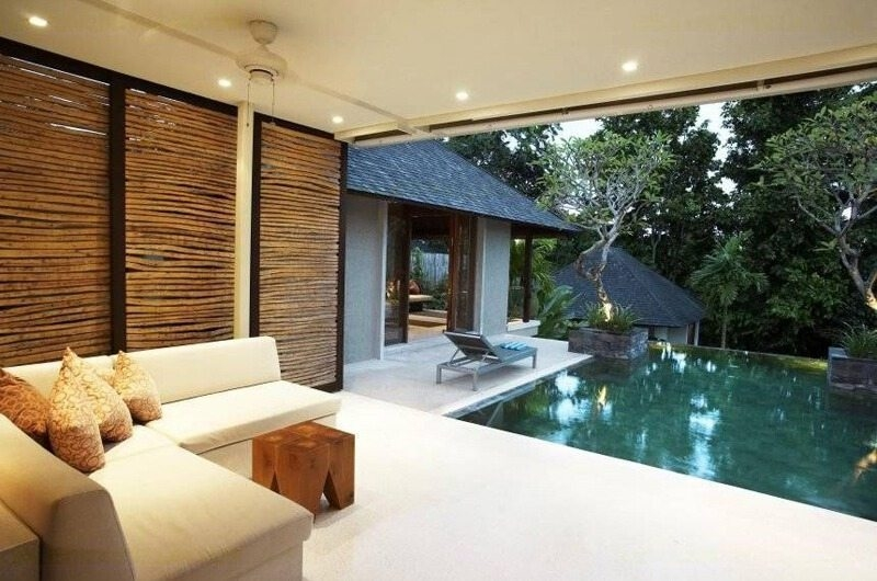 Pool Side Seating Area - Tukad Pangi Villa - Canggu, Bali