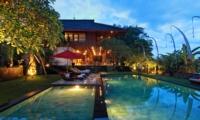 Pool at Night - Umah Di Sawah - Canggu, Bali