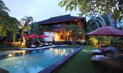 Swimming Pool at Night - Umah Di Sawah - Canggu, Bali