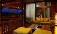 Seating Area at Night - Umah Di Sawah - Canggu, Bali