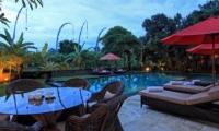 Pool Side Dining - Umah Di Sawah - Canggu, Bali
