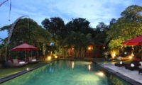 Sun Beds at Night - Umah Di Sawah - Canggu, Bali