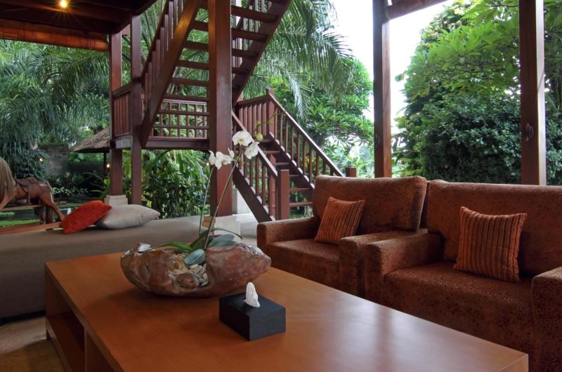 Living Area with View - Umah Di Sawah - Canggu, Bali
