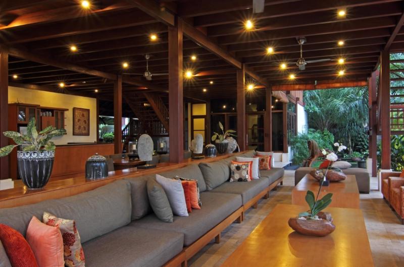 Living Area with Garden View - Umah Di Sawah - Canggu, Bali