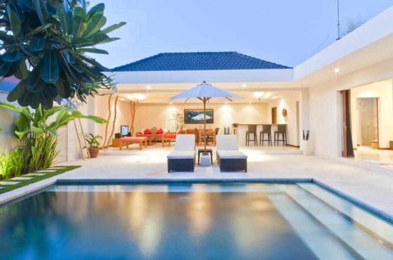 Pool at Night - Umah Kupu Kupu - Seminyak, Bali