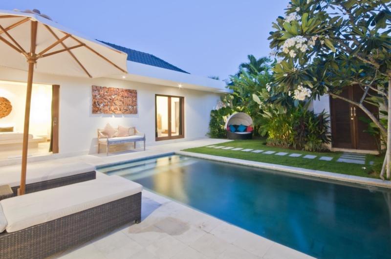 Swimming Pool at Night - Umah Kupu Kupu - Seminyak, Bali