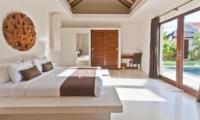 Bedroom with Pool View - Umah Kupu Kupu - Seminyak, Bali