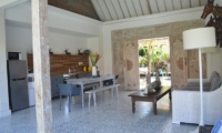 Living, Kitchen and Dining Area - Umah Di Desa - Batubelig, Bali