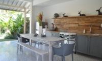 Kitchen and Dining Area - Umah Di Desa - Batubelig, Bali
