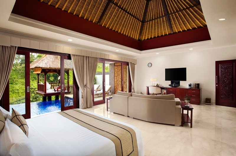 Bedroom with Sofa and TV - Viceroy Bali - Ubud, Bali