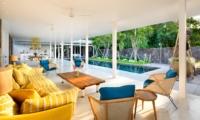 Living Area with Pool View - Villa 1880 - Batubelig, Bali