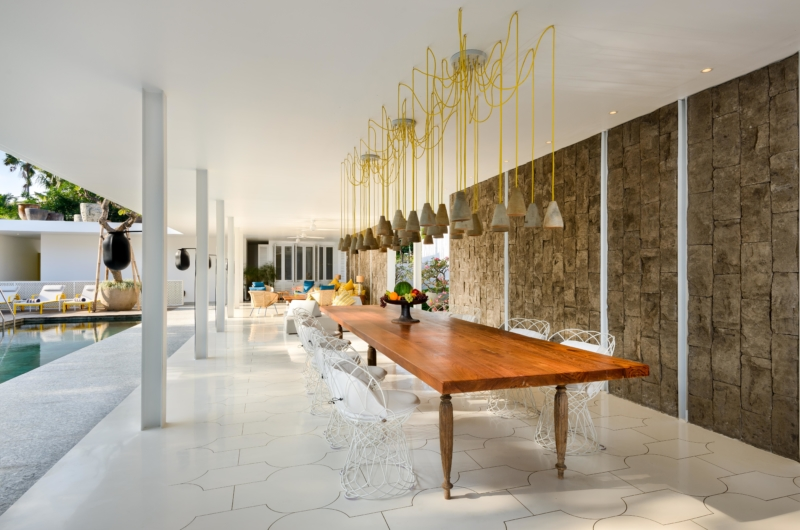 Dining Area with Pool View - Villa 1880 - Batubelig, Bali