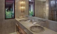 His and Hers Bathroom - Villa Abakoi - Seminyak, Bali